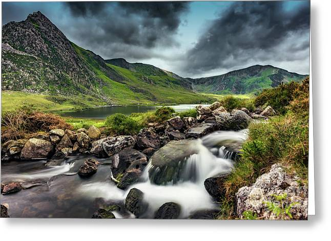 Tryfan And Ogwen Lake Greeting Card by Adrian Evans