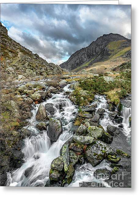 Tryfan And Ogwen River Greeting Card by Adrian Evans