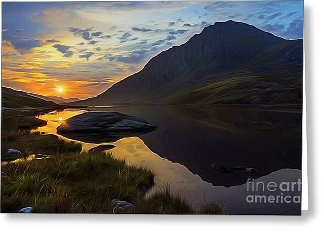 Tryfan Surnise Greeting Card