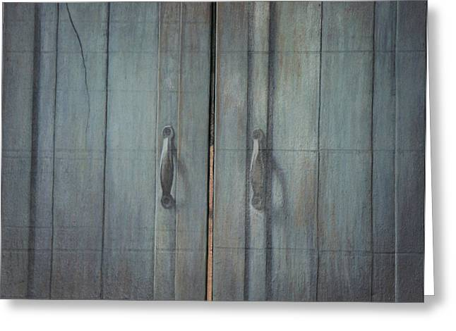 Tryptych Closed Greeting Card by James LeGros