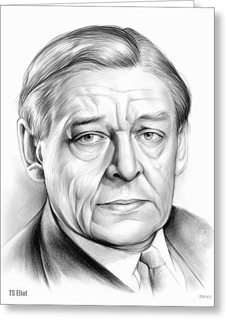 Ts Eliot Greeting Card by Greg Joens