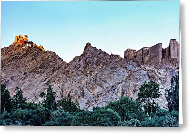 Tsemo Fort - Ladakh Greeting Card by Steve Harrington