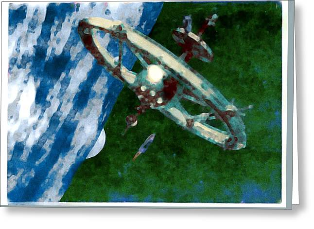 Tsiolkovsky Station In Earth Orbit Greeting Card