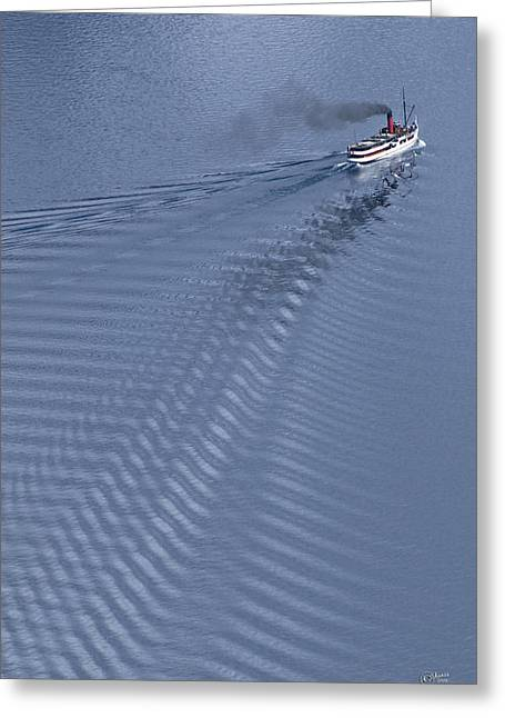 Tss Earnslaw Greeting Card by Andrea Cadwallader