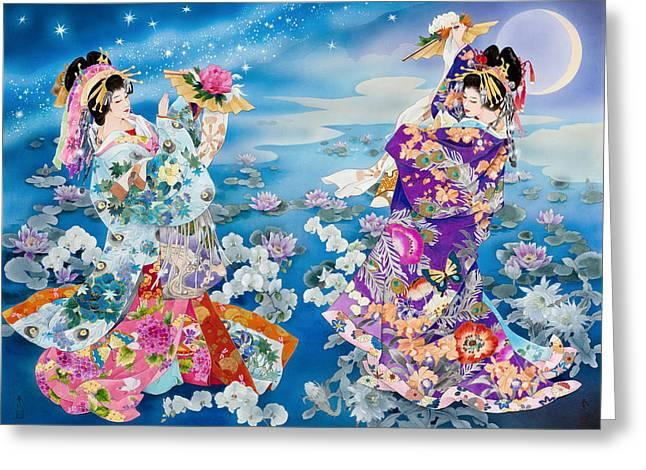 Tsuki Hoshi Greeting Card by Haruyo Morita
