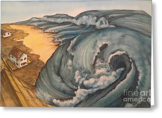 Tsunami  Greeting Card