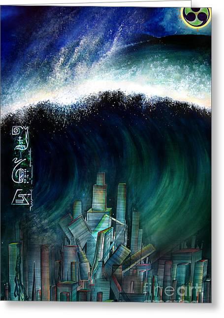 Tsunami That Destroyed Atlantis Greeting Card