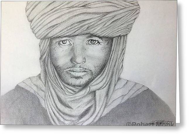 Tuareg Beduin Greeting Card