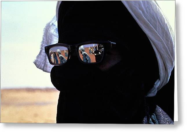 Tuareg With Sunglasses Greeting Card by Carl Purcell