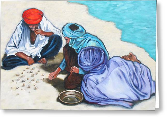 Tuaregs Greeting Card by Lorraine Klotz