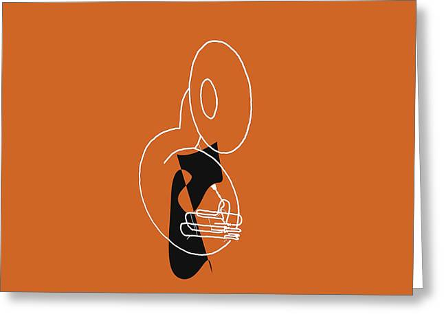 Tuba In Orange Greeting Card