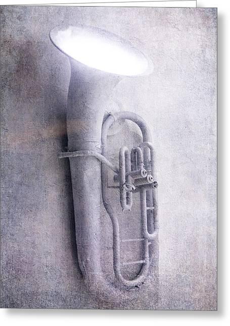 Tuba Light Greeting Card by Garry Gay