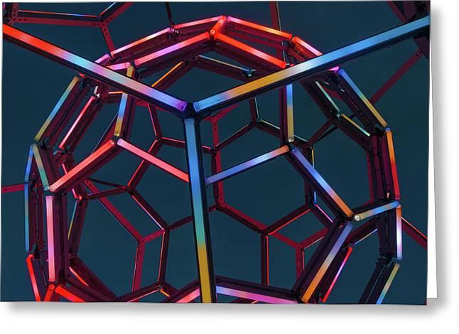 Tubes Of Light - Crystal Bridges Museum Of American Art Greeting Card