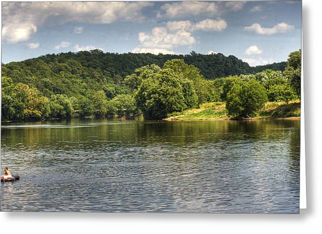 Tubing On The James River Greeting Card