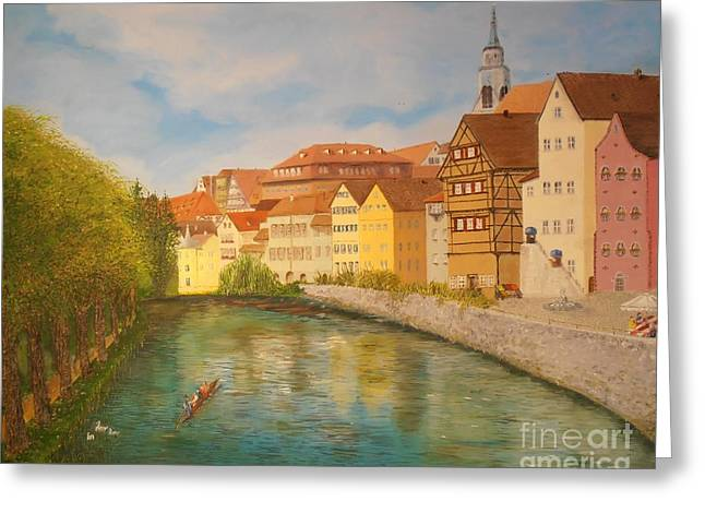 Tubingen In Sunlight Greeting Card by James Rodriguez