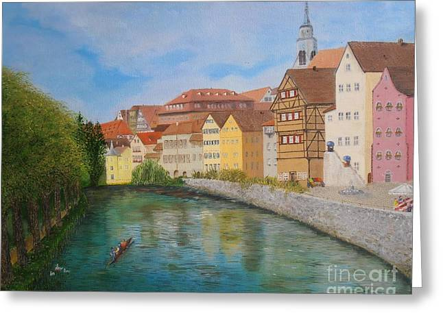 Tubingen  Greeting Card by James Rodriguez