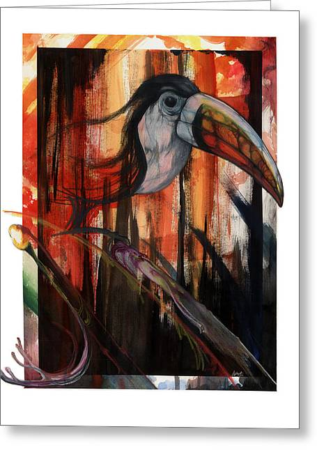 Tucan Greeting Card by Anthony Burks Sr