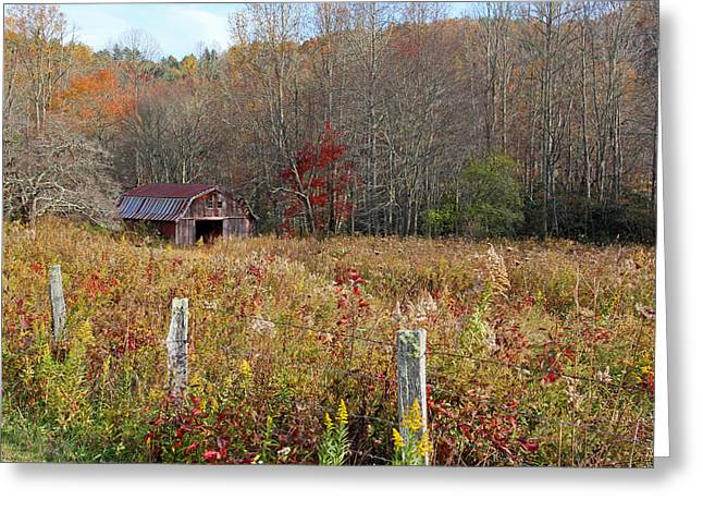 Tucked Away - Barns Greeting Card by HH Photography of Florida