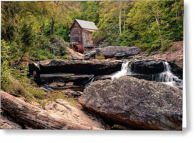 Tucked Away - Historic Old Mill Photography Greeting Card by Gregory Ballos