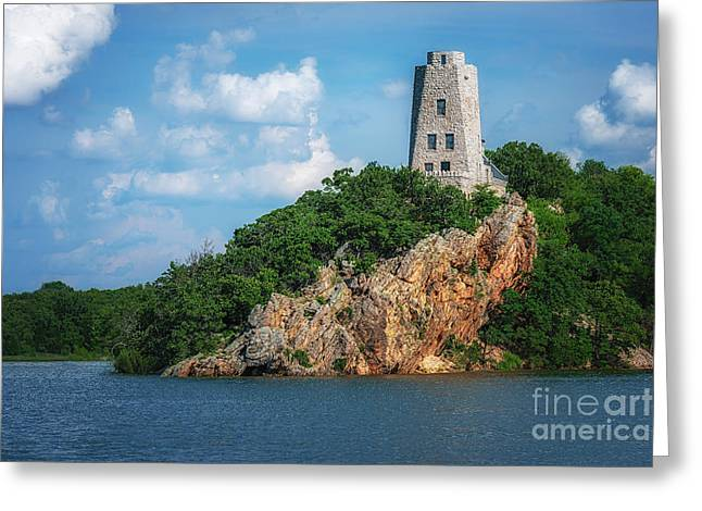 Tucker's Tower Gentle Summer Day Landscape Greeting Card