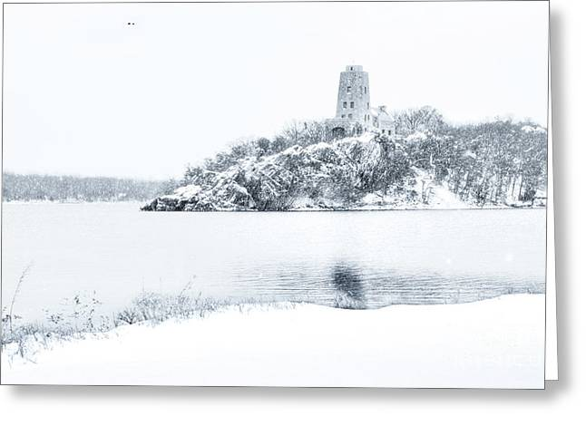 Tucker's Tower In Winter Greeting Card by Tamyra Ayles