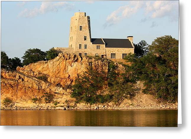 Tucker's Tower Lake Murray Oklahoma Greeting Card
