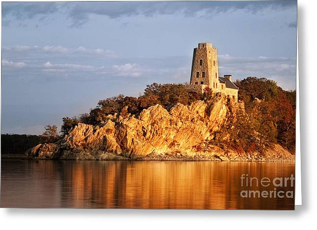 Tucker's Tower Sunset Glow Greeting Card