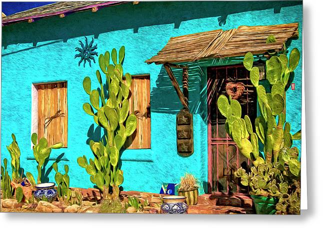 Tucson Blue Greeting Card