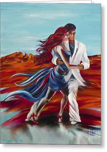 Tucson Tango Greeting Card by Summer Celeste