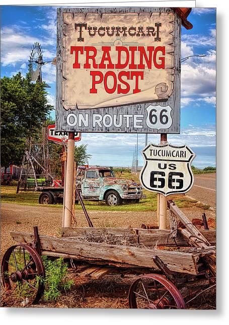 Tucumcari Trading Post Sign Greeting Card