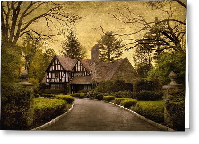 Tudor Estate Greeting Card by Jessica Jenney