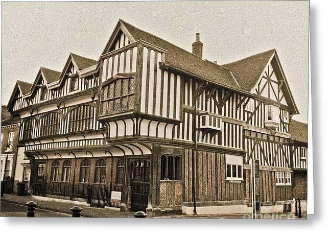 Tudor House Southampton Greeting Card by Terri Waters