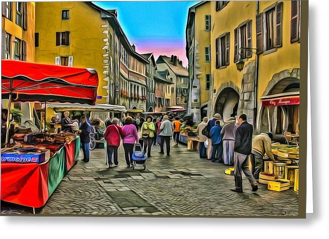Tuesday Is Market Day Greeting Card
