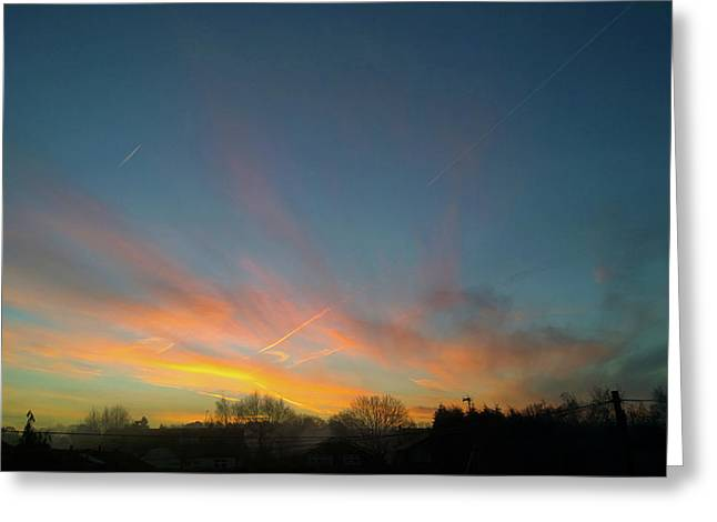 Greeting Card featuring the photograph Tuesday Sunrise by Anne Kotan