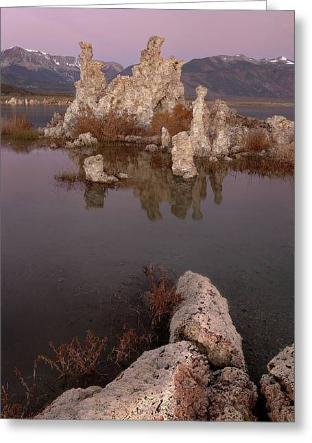 Tufa And Mountains Greeting Card
