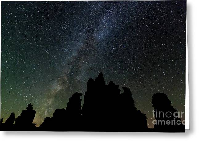 Greeting Card featuring the photograph Tufa Nights by Charles Garcia