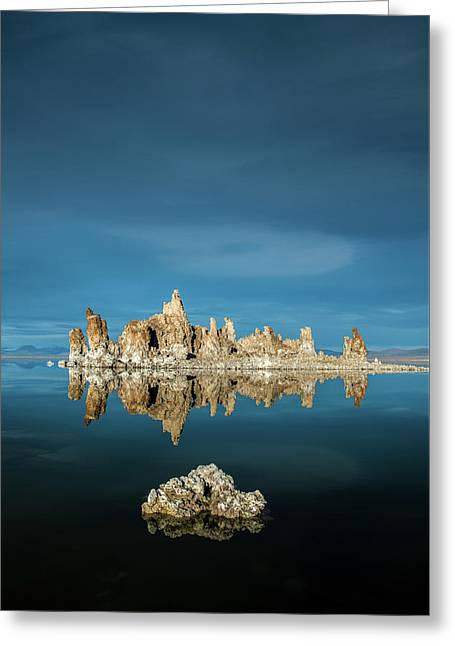 Tufa Reflections Greeting Card by Joseph Smith