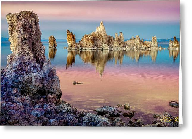 Greeting Card featuring the photograph Tufas At Mono Lake by Rikk Flohr