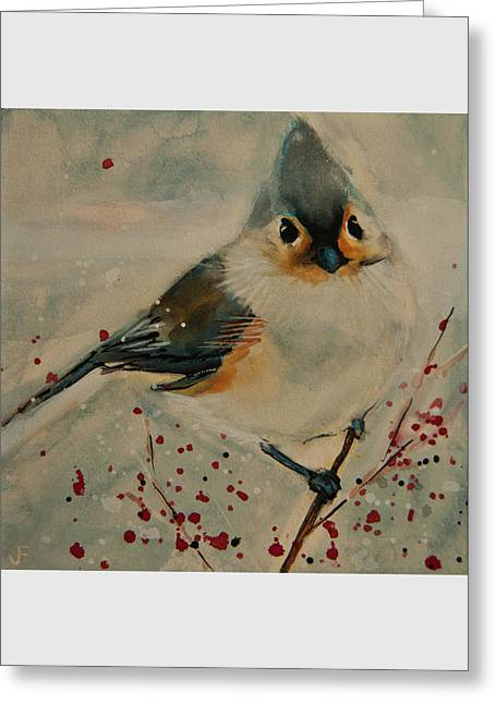 Tufted Blue Titmouse Greeting Card