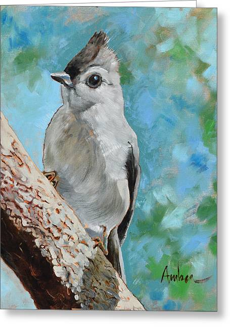Tufted Titmouse #1 Greeting Card