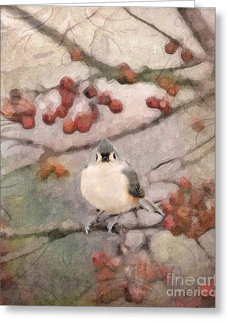 Tufted Titmouse Greeting Card by Betty LaRue