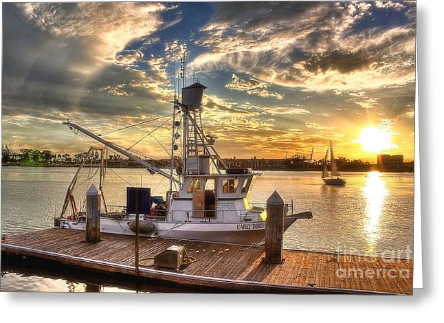 Tug Boat Greeting Card by Hartono Tai