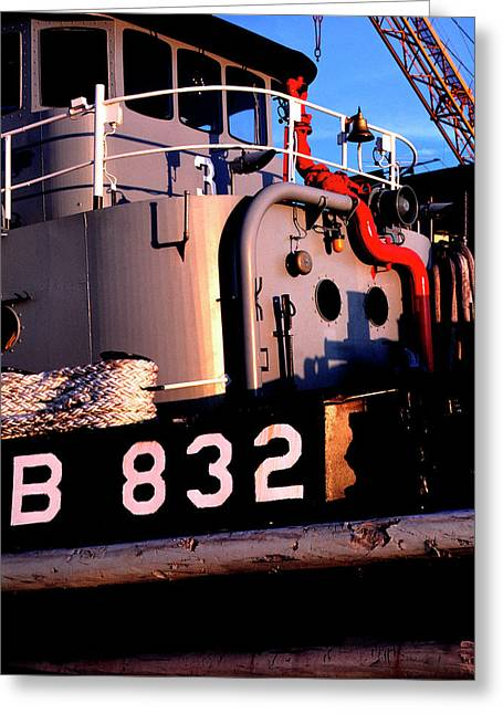 Military Might Greeting Cards - Tug Boat Greeting Card by Thomas R Fletcher