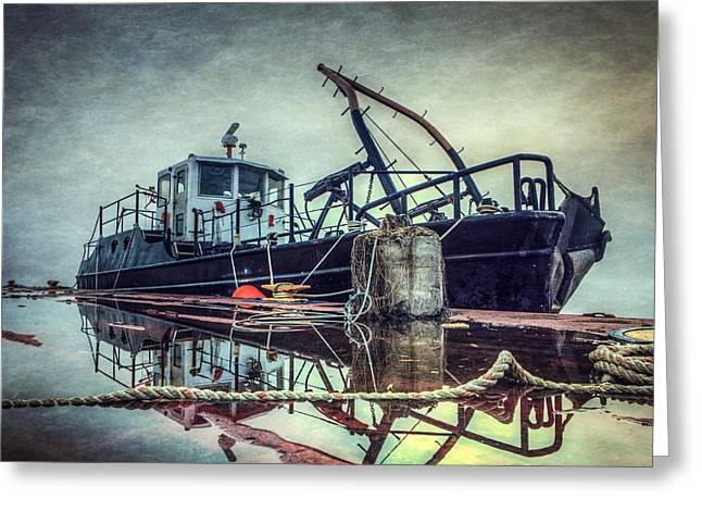 Tug In The Fog Greeting Card by Everet Regal