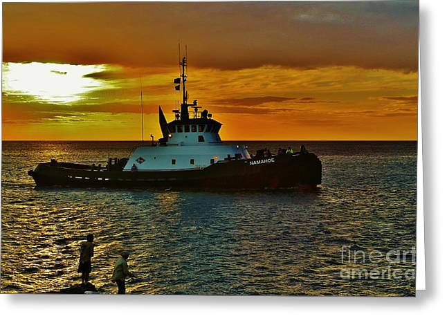 Tug Namahoe Greeting Card by Craig Wood