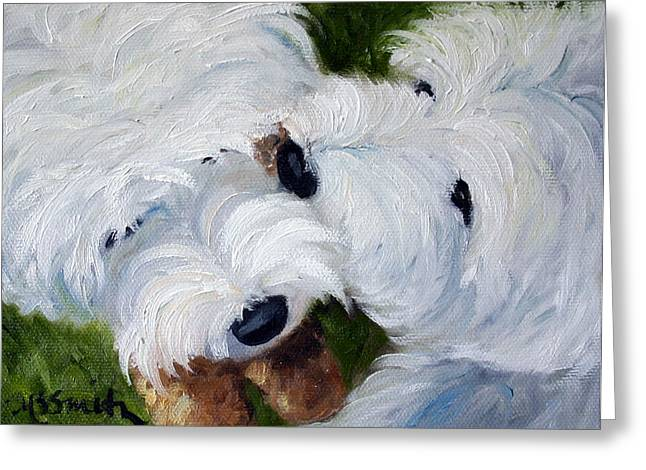 Tug Of War Greeting Card by Mary Sparrow