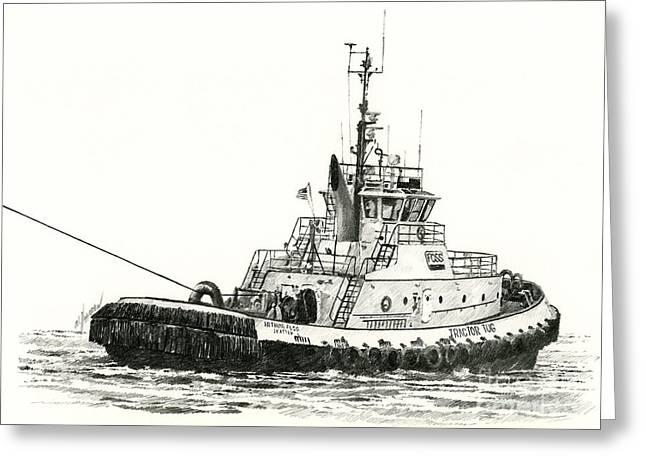 Tugboat Arthur Foss Greeting Card