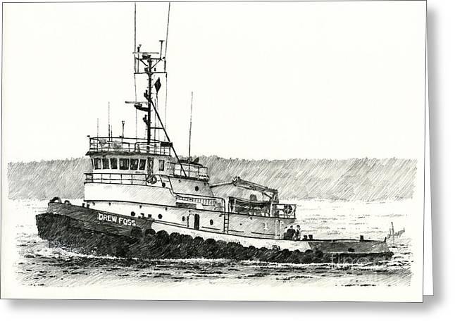 Tugboat Drew Foss Greeting Card