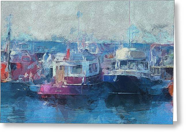 Tugs Together  Greeting Card