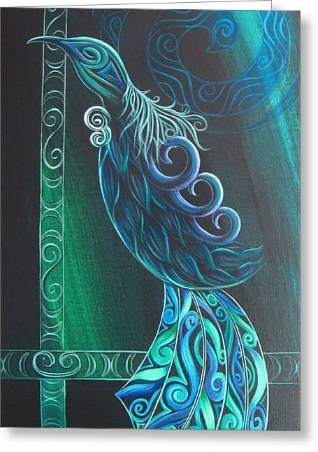 Tui Bird By Reina Cottier Greeting Card by Reina Cottier